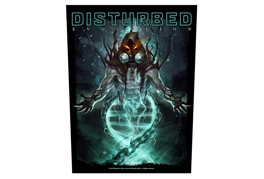 Official Band Merch | Disturbed - Evolution Printed Back Patch