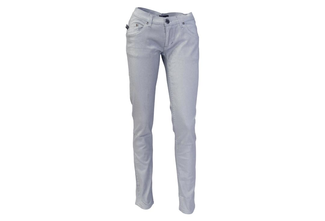 Darkside Clothing | Silver Metallic Low Rise Skinny Jeans