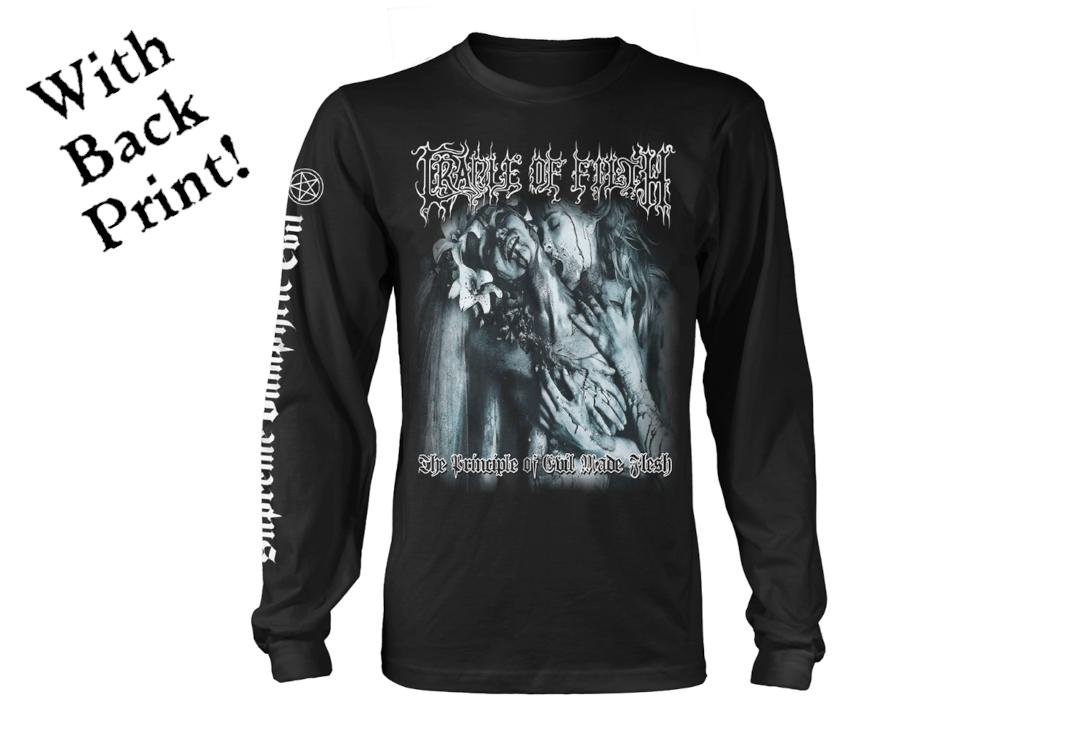 Official Band Merch | Cradle Of Filth - The Principle Of Evil Made Flesh Men's Official Long Sleeve T-Shirt - Front
