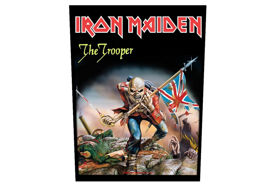Official Band Merch | Iron Maiden - The Trooper Printed Back Patch