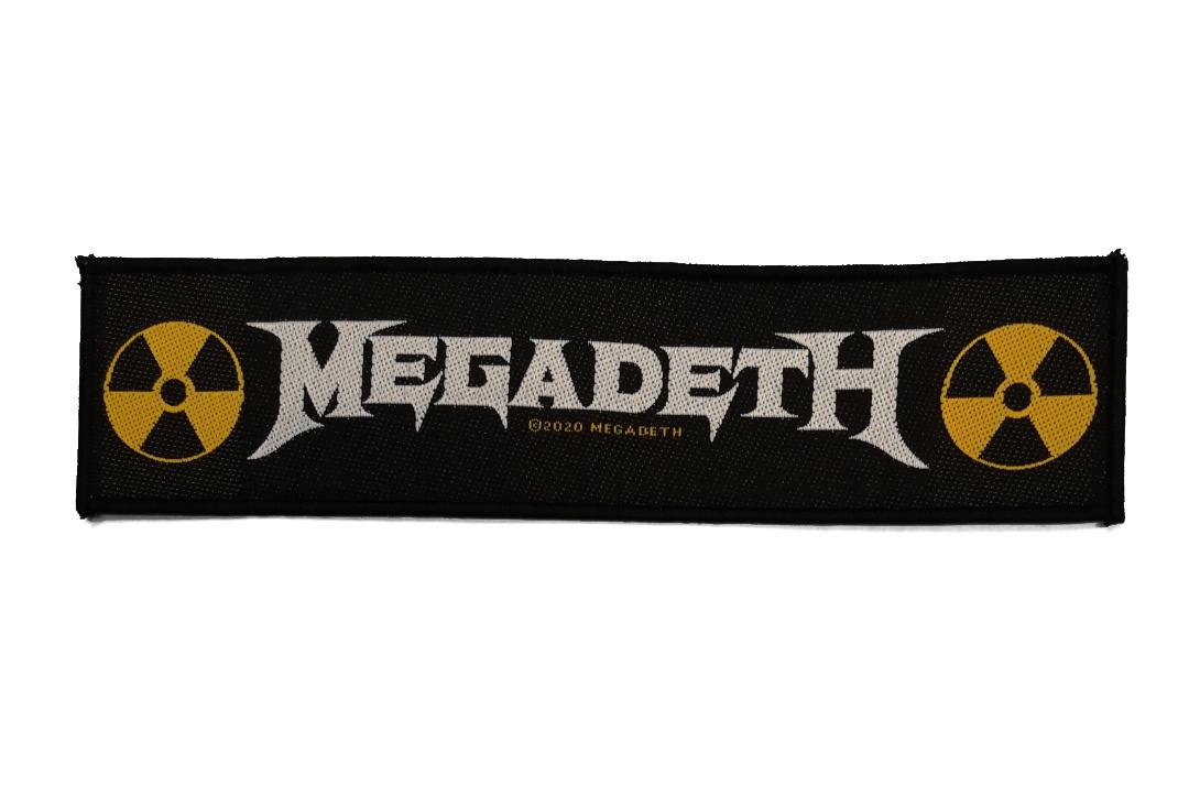 Official Band Merch | Megadeth - Logo Woven Super Strip Patch