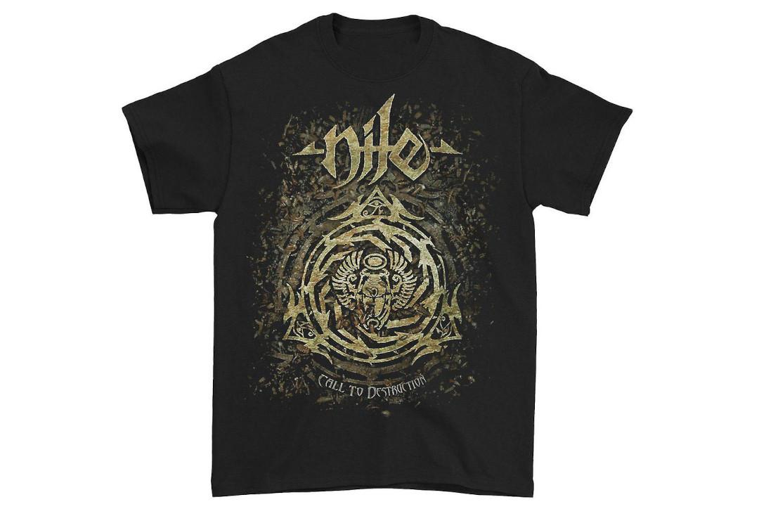 Official Band Merch | Nile - Call To Destruction Official Men's Short Sleeve T-Shirt - Front