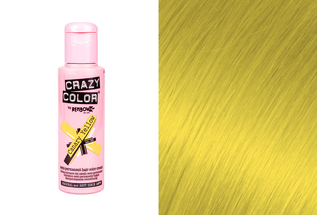 Renbow | Crazy Color Semi-Permanent Hair Colour (049 Canary Yellow)