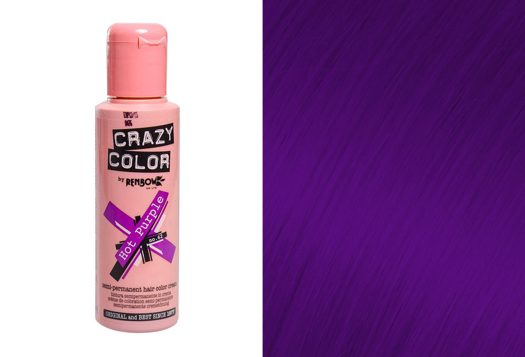 Renbow | Crazy Color Semi-Permanent Hair Colour (062 Hot Purple)
