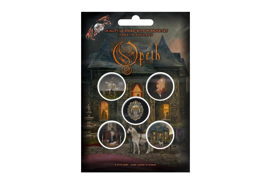 Official Band Merch | Opeth - In Caude Venenum Button Badge Pack