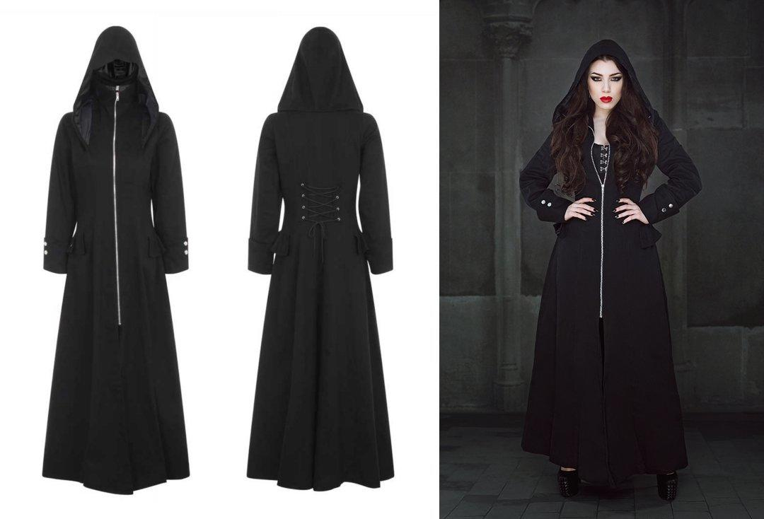 Necessary Evil | Kali Long Coat (Black)
