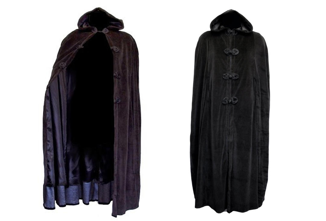 Dark Star By Jordash | Full Length Cotton Velour Hood Cape DS/JK/9694 - Back