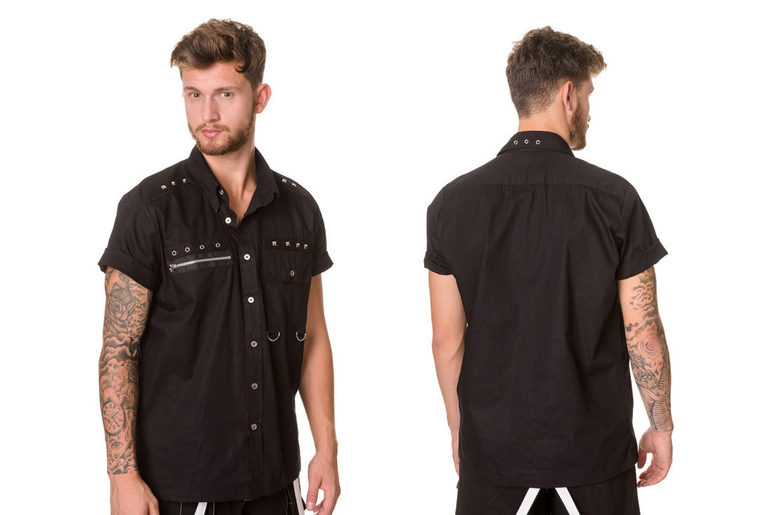 Dead Threads | Stud Detail Short Sleeve 9522 Shirt