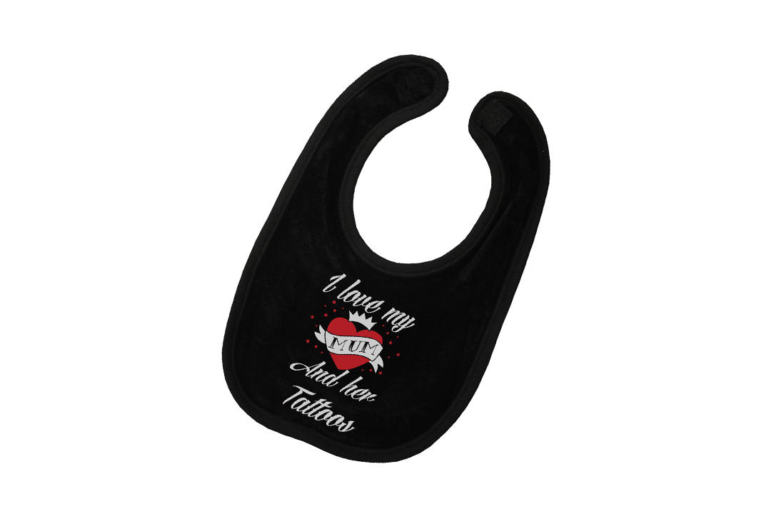 Darkside | I Love My Mum Baby Bib