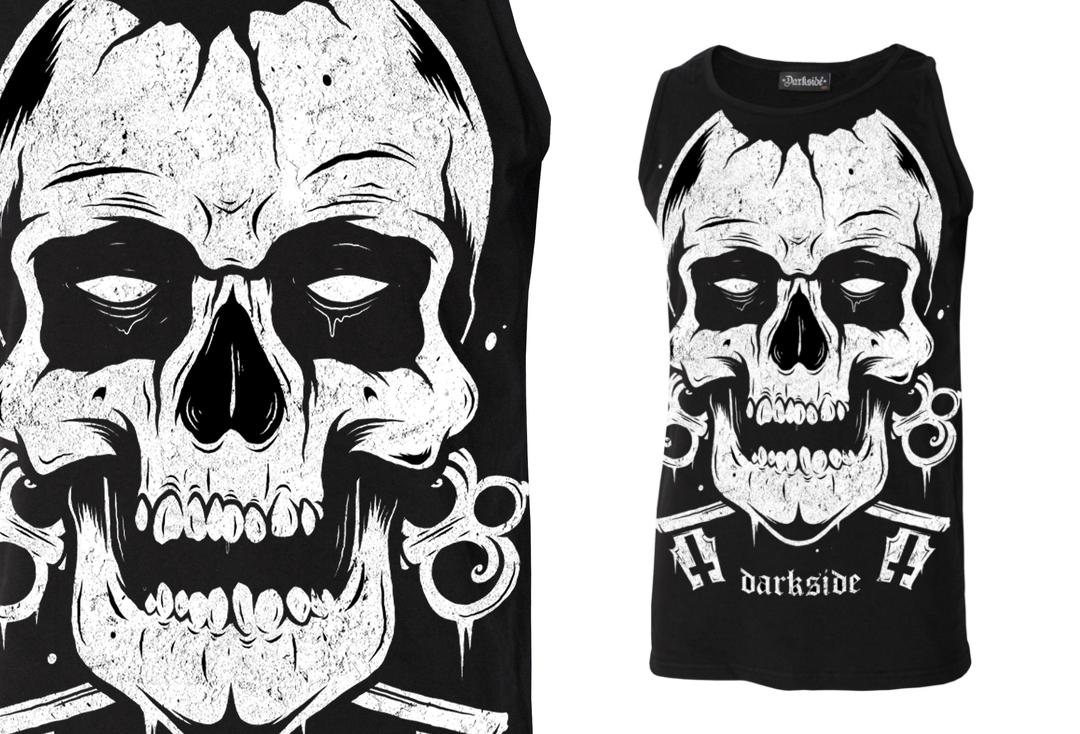 Darkside | Skull Face Unisex Cotton Vest