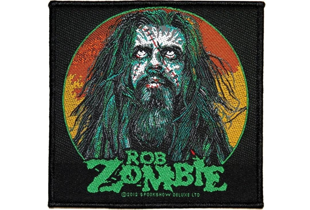 Official Band Merch | Rob Zombie - Zombie Face #1 Woven Sew On Patch