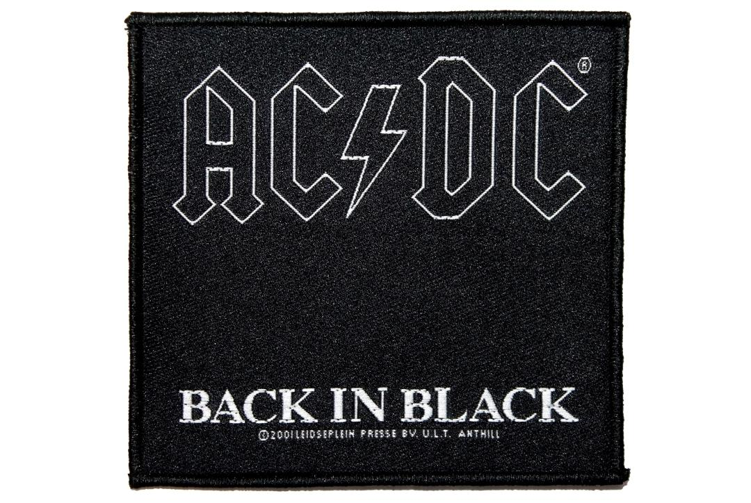 Official Band Merch | AC/DC - Back In Black Woven Sew On Patch