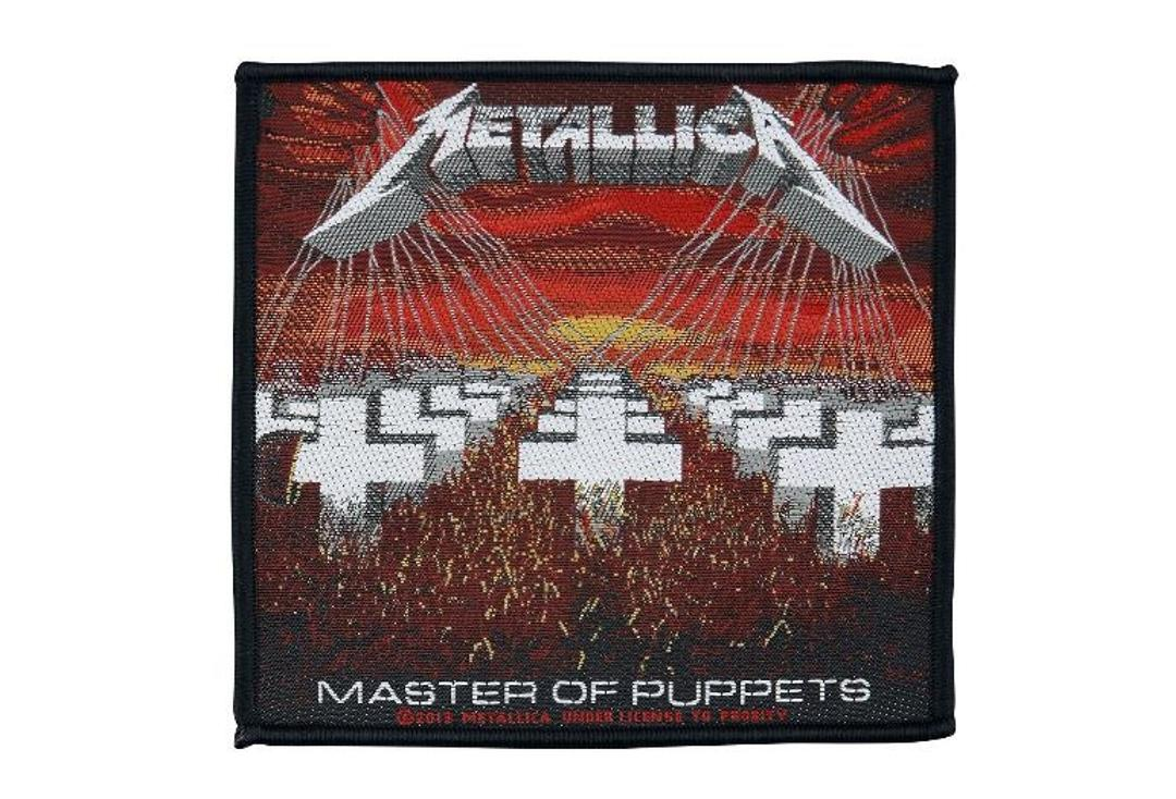 Official Band Merch | Metallica - Master Of Puppets Woven Sew On Patch
