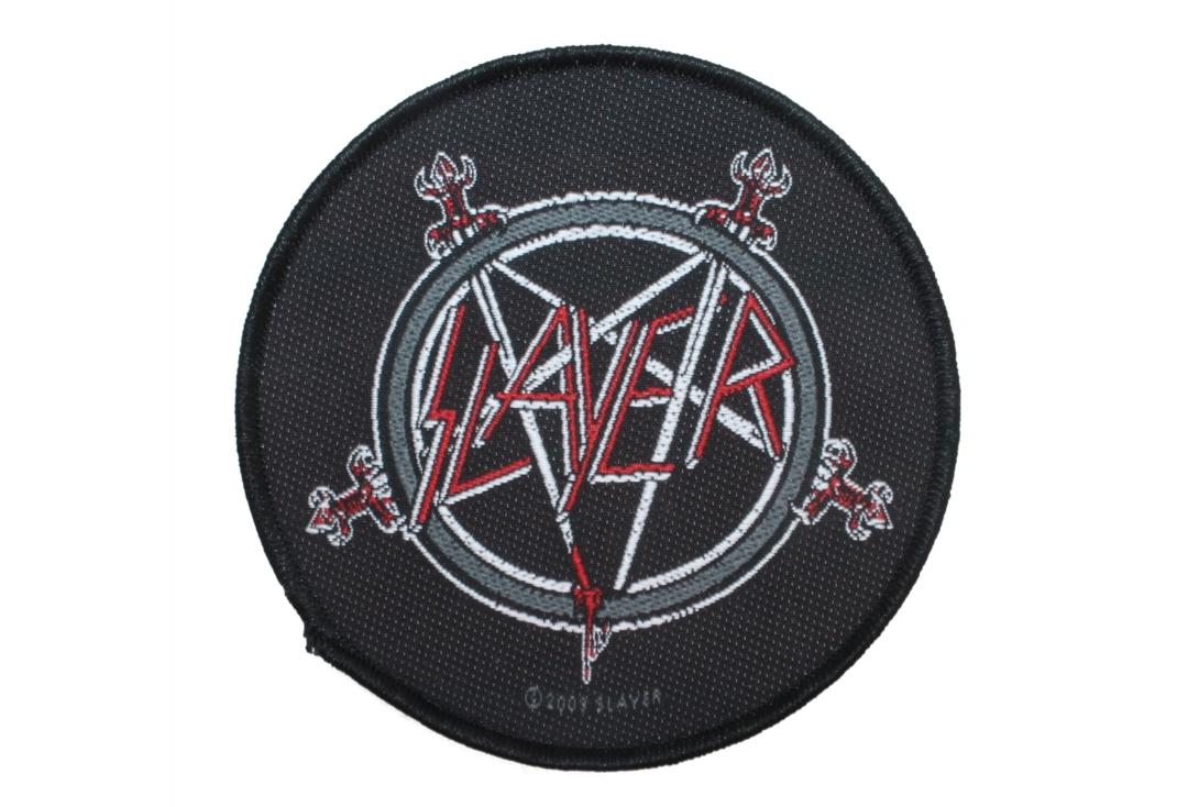 Official Band Merch | Slayer - Pentagram Woven Sew On Patch