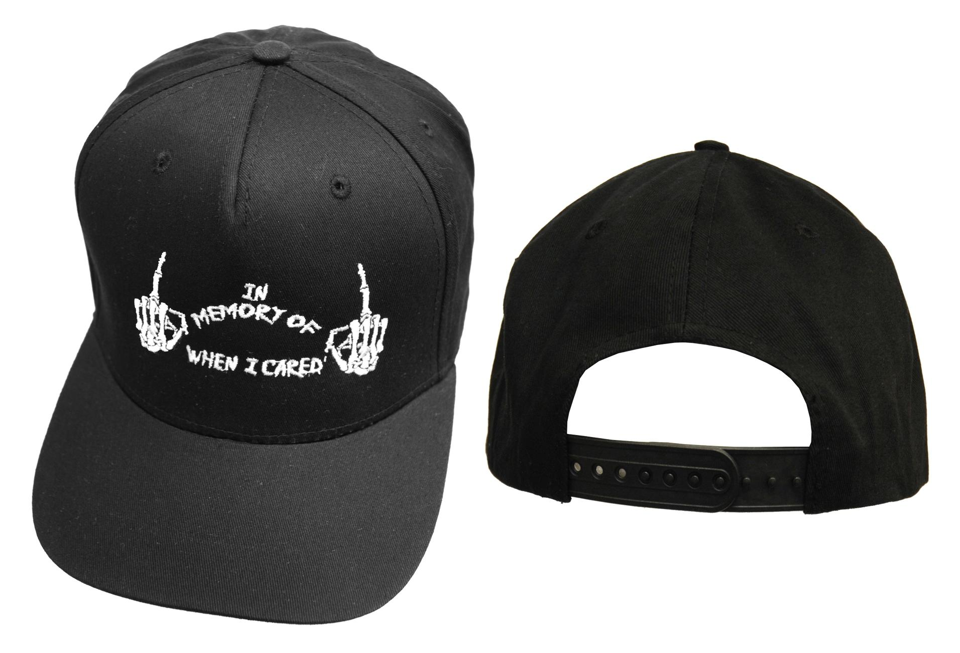 Darkside | In Memory Of When I Cared Black Snapback Cap - Front
