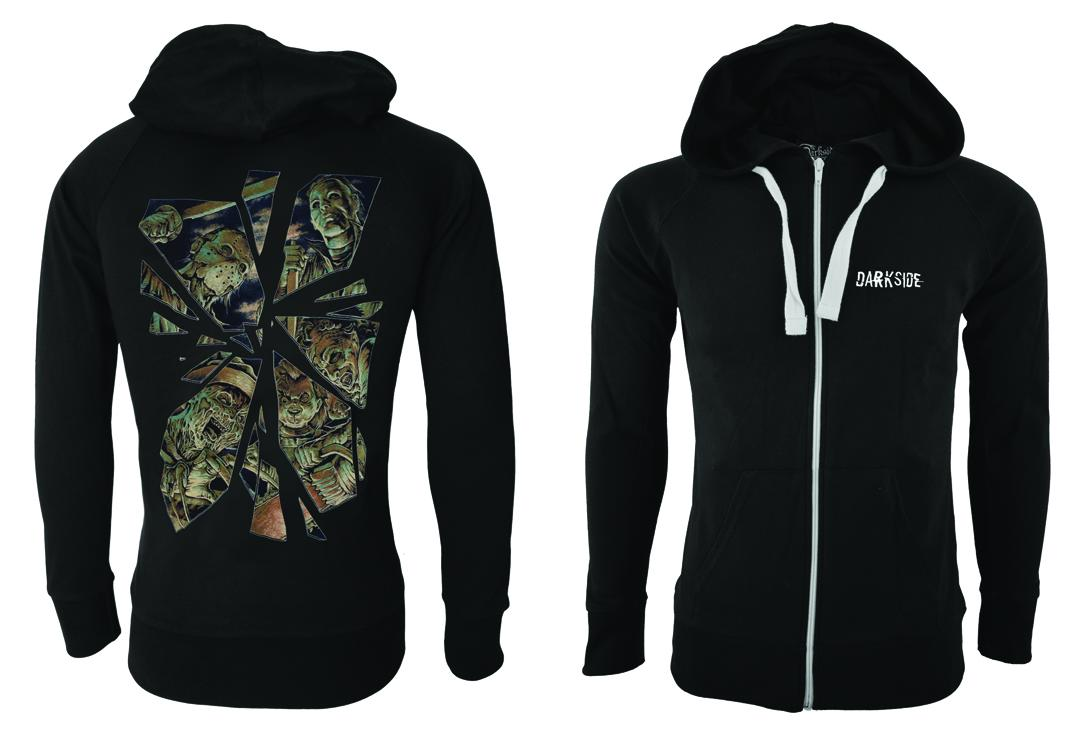 Darkside | Horror Mirror Unisex Cotton Zip Hood