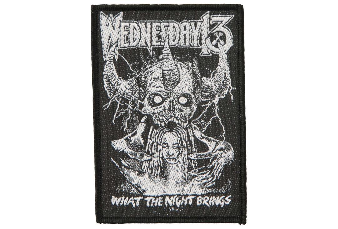 Official Band Merch | Wednesday 13 - What The Night Brings Woven Patch