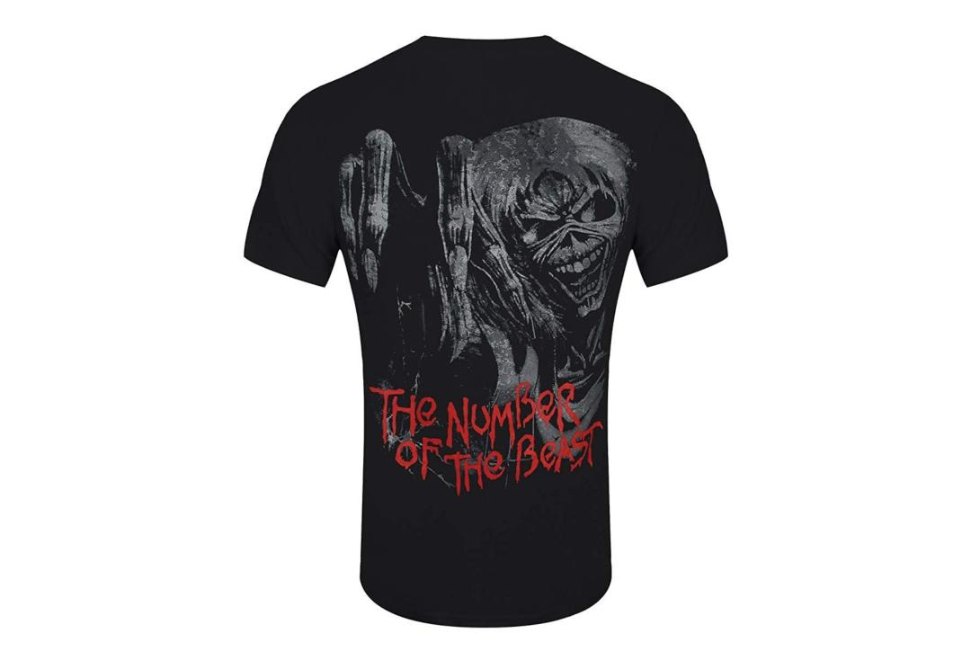 Official Band Merch | Iron Maiden - Number Of The Beast Jumbo Print Men's Short Sleeve T-Shirt - Back View