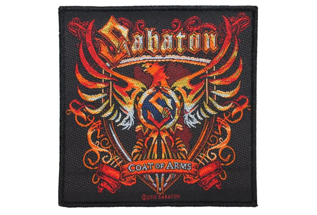 Official Band Merch | Sabaton - Coat Of Arms Woven Patch