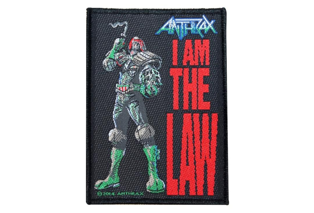 Official Band Merch | Anthrax - I Am The Law Woven Patch