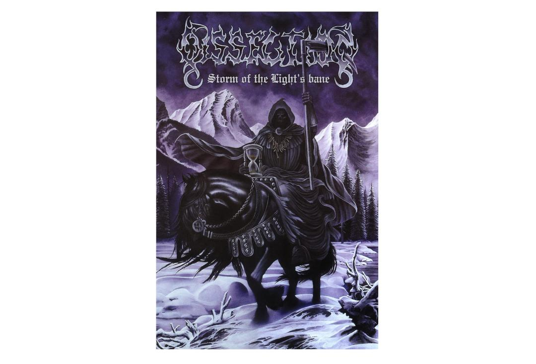 Official Band Merch | Dissection - Storm Of The Lights Bane Printed Textile Poster