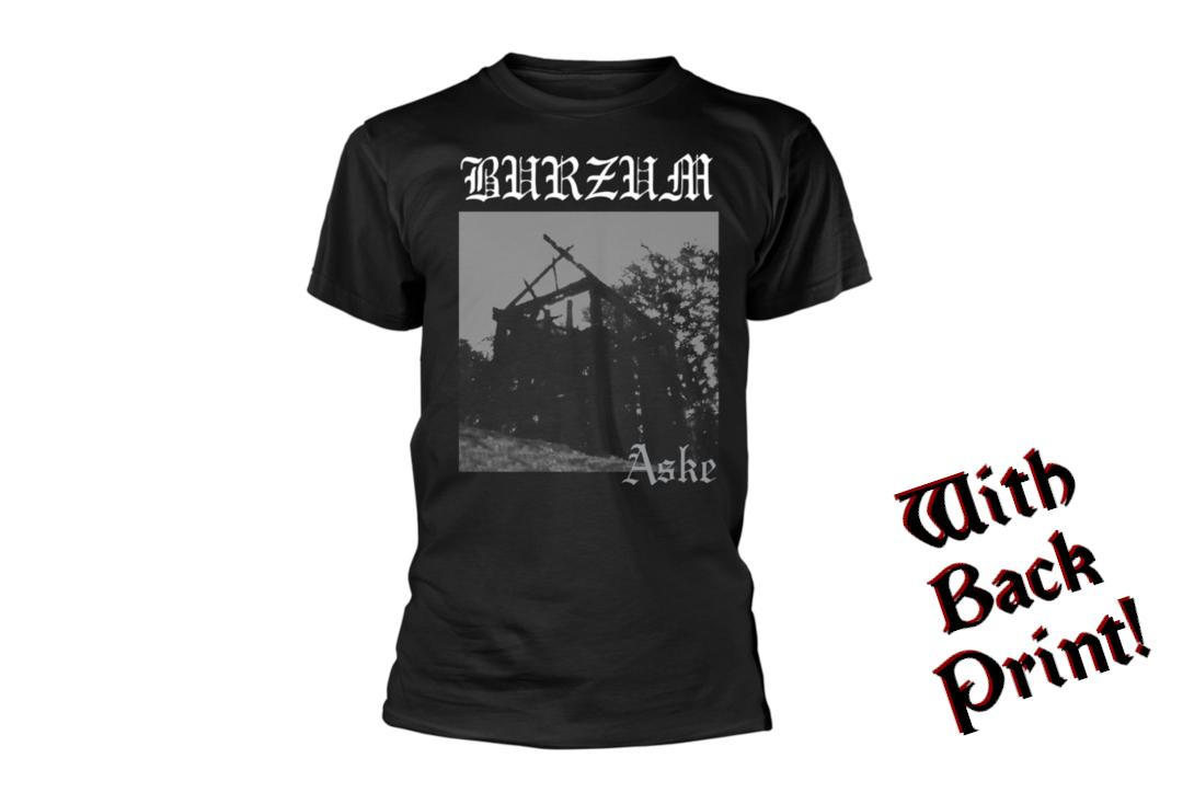 Official Band Merch | Burzum - Aske Men's Short Sleeve T-Shirt - Front View