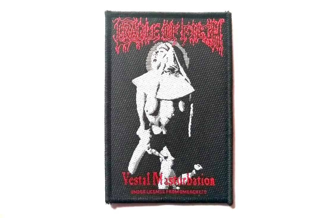 Official Band Merch | Cradle Of Filth - Vestal Masturbation Woven Patch