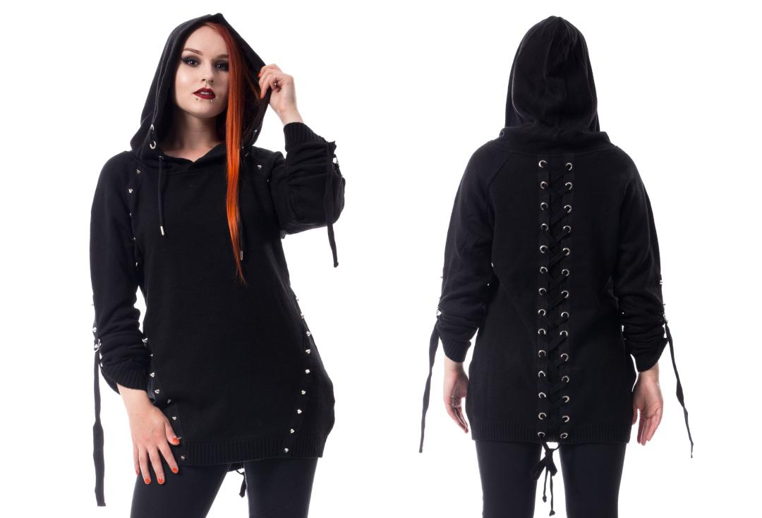 Poizen Industries | Dark Haze Lace Up Black Hood