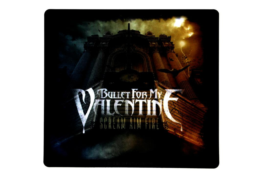 Official Band Merch | Bullet For My Valentine - Scream Aim Fire Vinyl Sticker