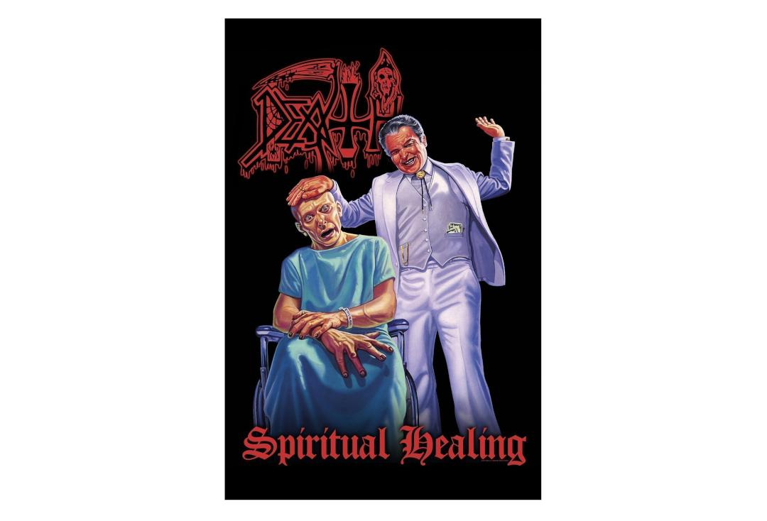 Official Band Merch | Death - Spiritual Healing Printed Textile Poster