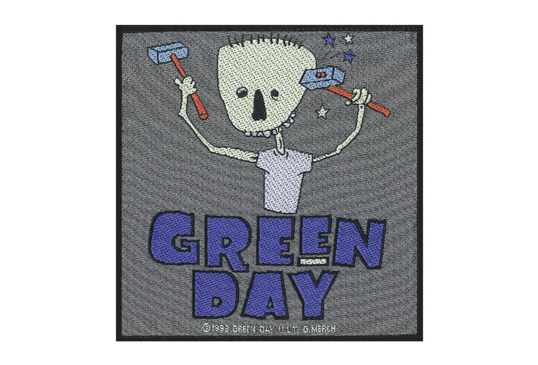 Official Band Merch | Green Day - Hammer Face Woven Patch