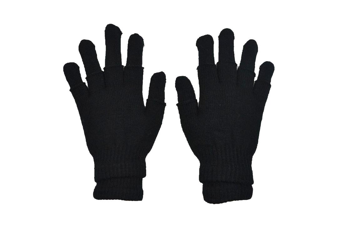 Poizen Industries | Black & Black Double Gloves