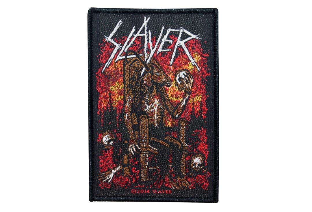 Official Band Merch |   Slayer - Devil On Throne Woven Patch