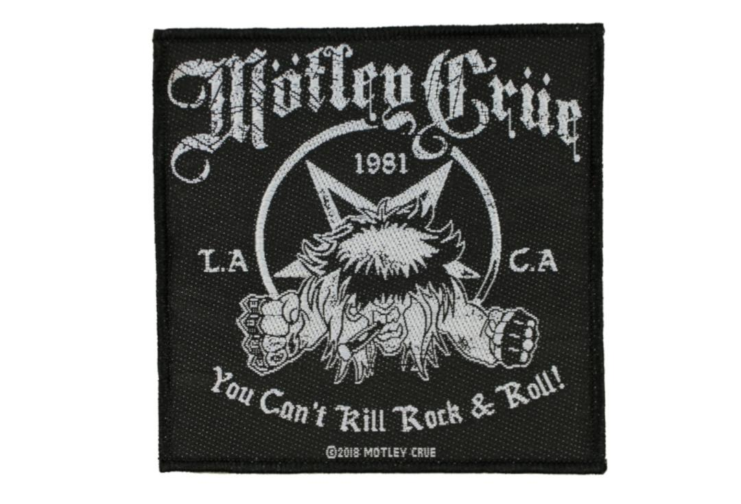 Official Band Merch | Motley Crue - You Can't Kill Rock & Roll Woven Patch