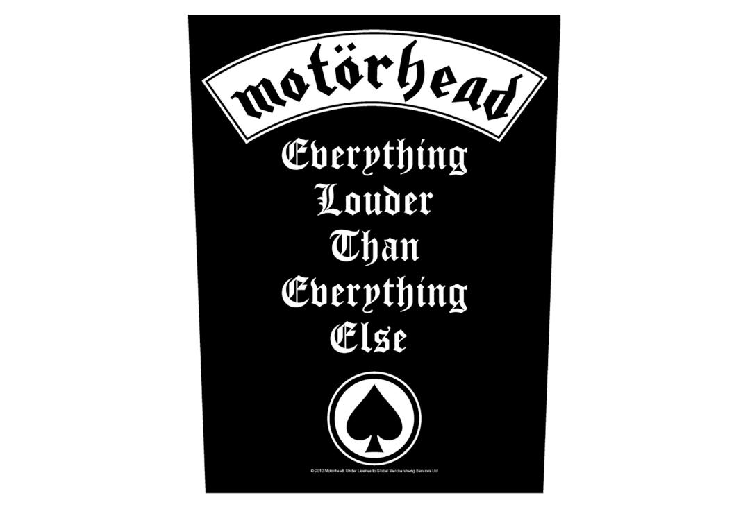 Official Band Merch | Motorhead - Everything Louder Printed Back Patch