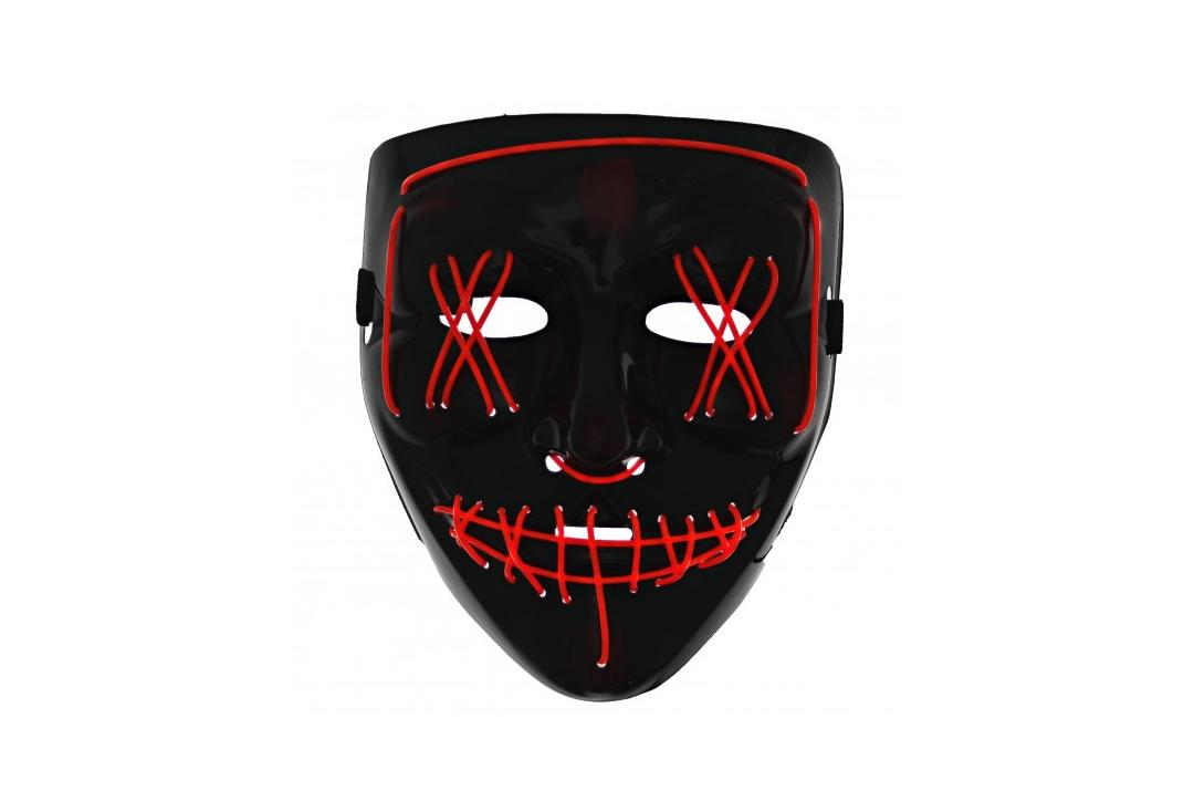 Void Clothing | Red Purge LED Light Up Plastic Mask