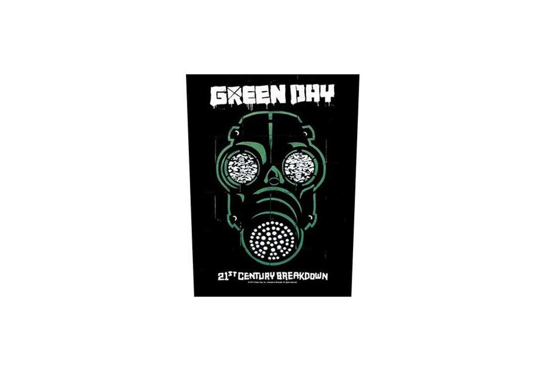 Official Band Merch | Green Day - 21st Century Breakdown Gas Mask Printed Back Patch