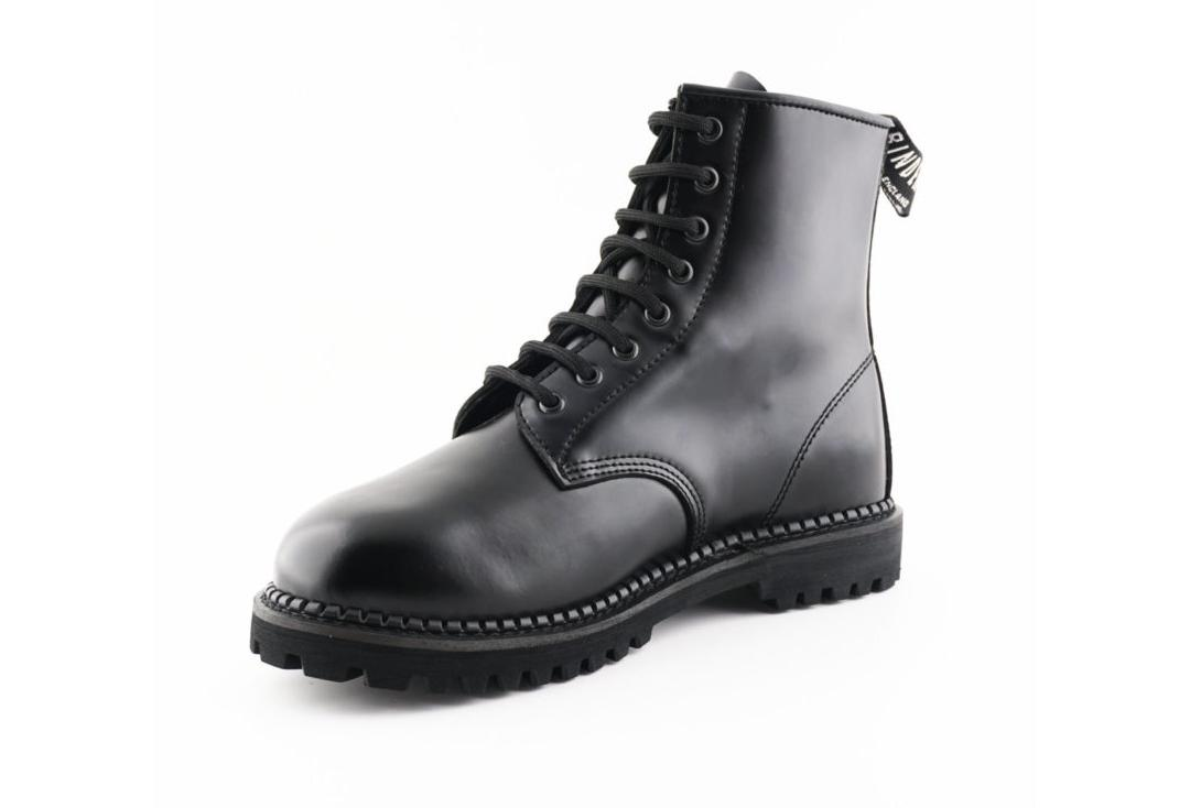 Grinders | Cedric Men's Black Leather Boots - Inner Side View