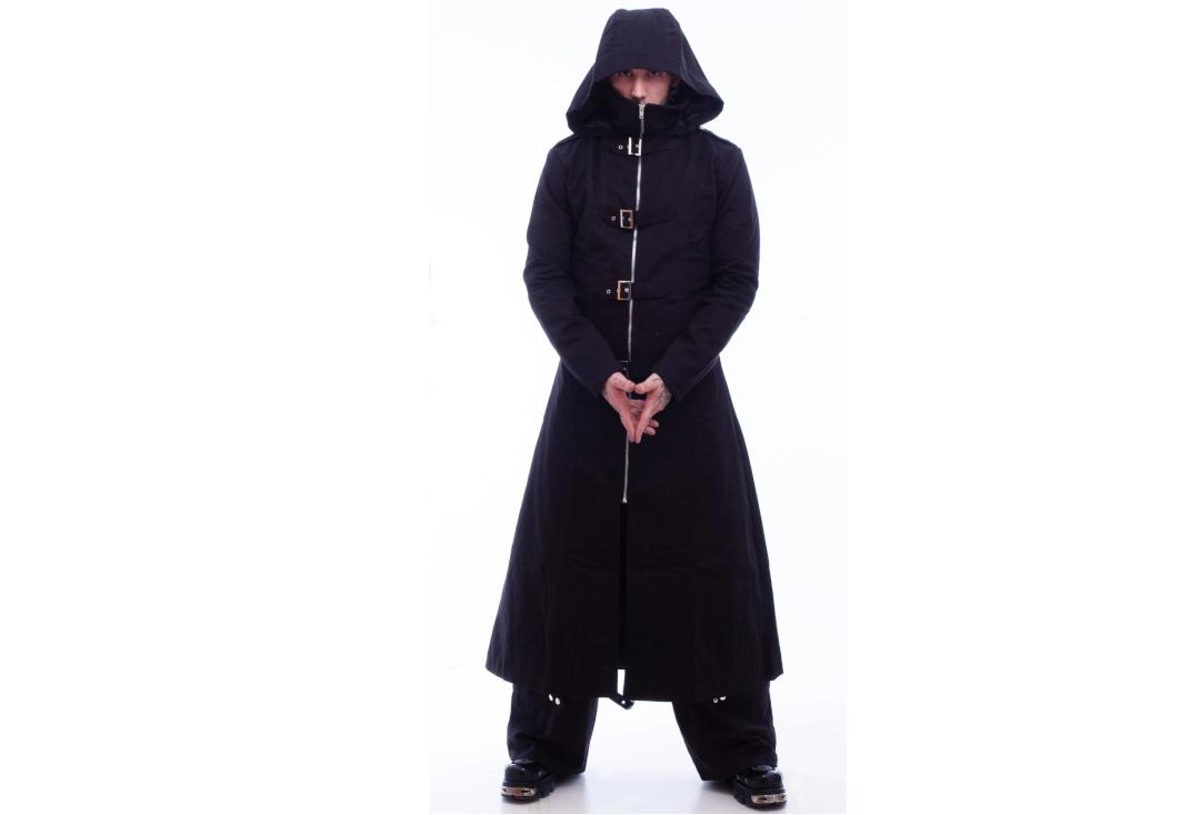 Necessary Evil | Highwayman's Full Length Coat - Hood Up