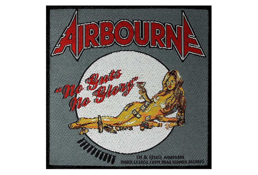 Official Band Merch | Airbourne - No Guts No Glory Woven Patch