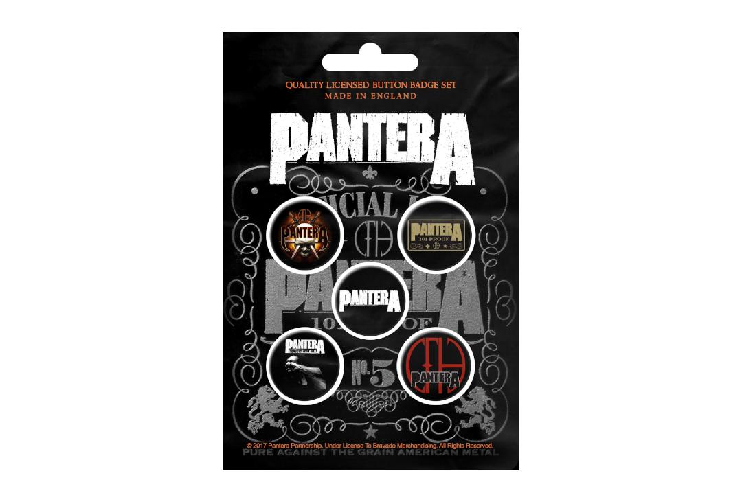 Official Band Merch | Pantera - 101 Proof Button Badge Pack