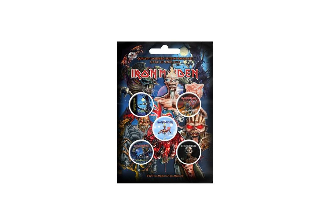 Official Band Merch | Iron Maiden - Later Albums Button Badge Pack