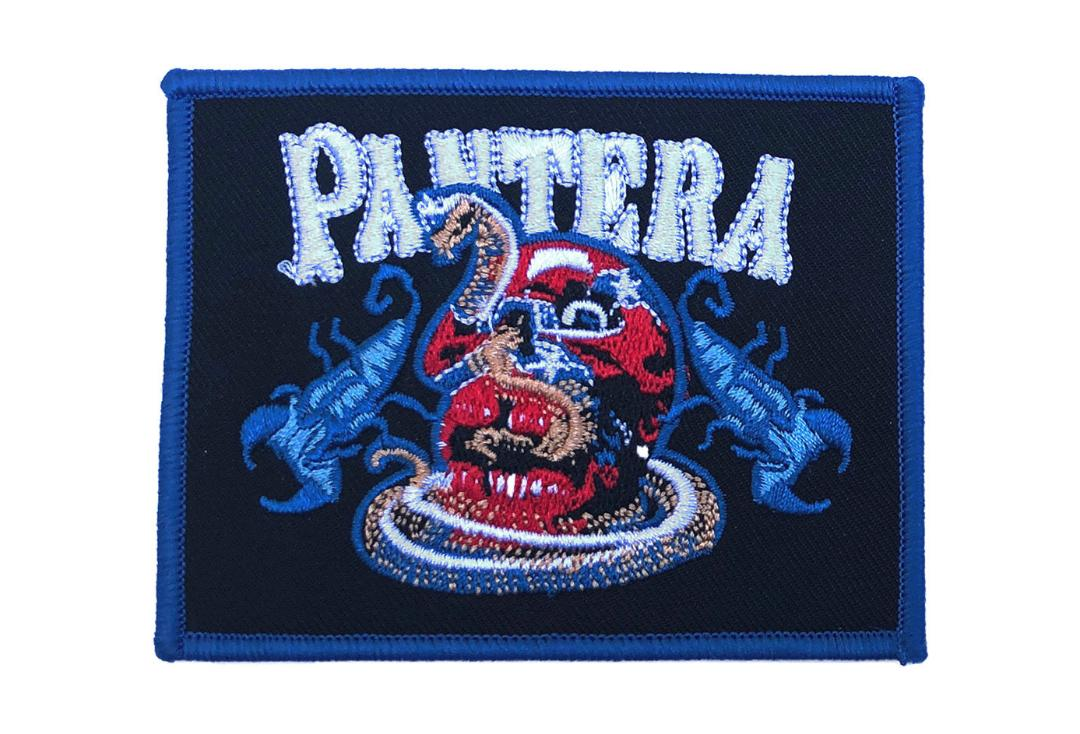 Official Band Merch | Pantera - Skull & Scorpions Woven Patch
