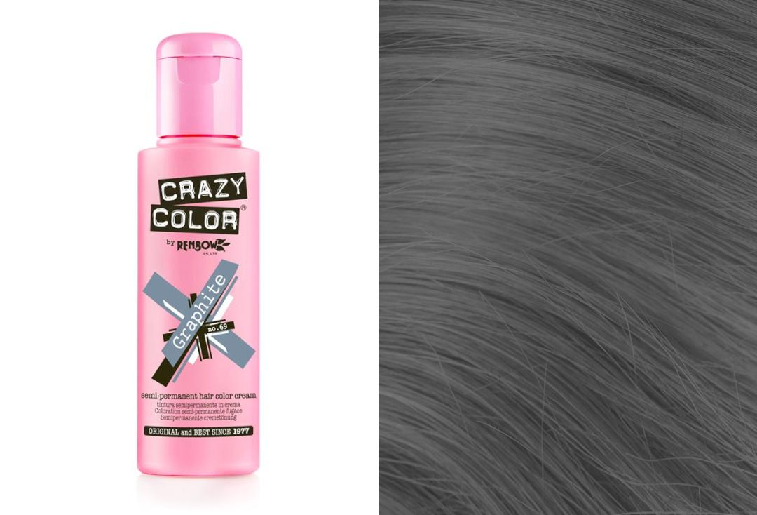 Renbow | Crazy Color Semi-Permanent Hair Colour (069 Graphite)