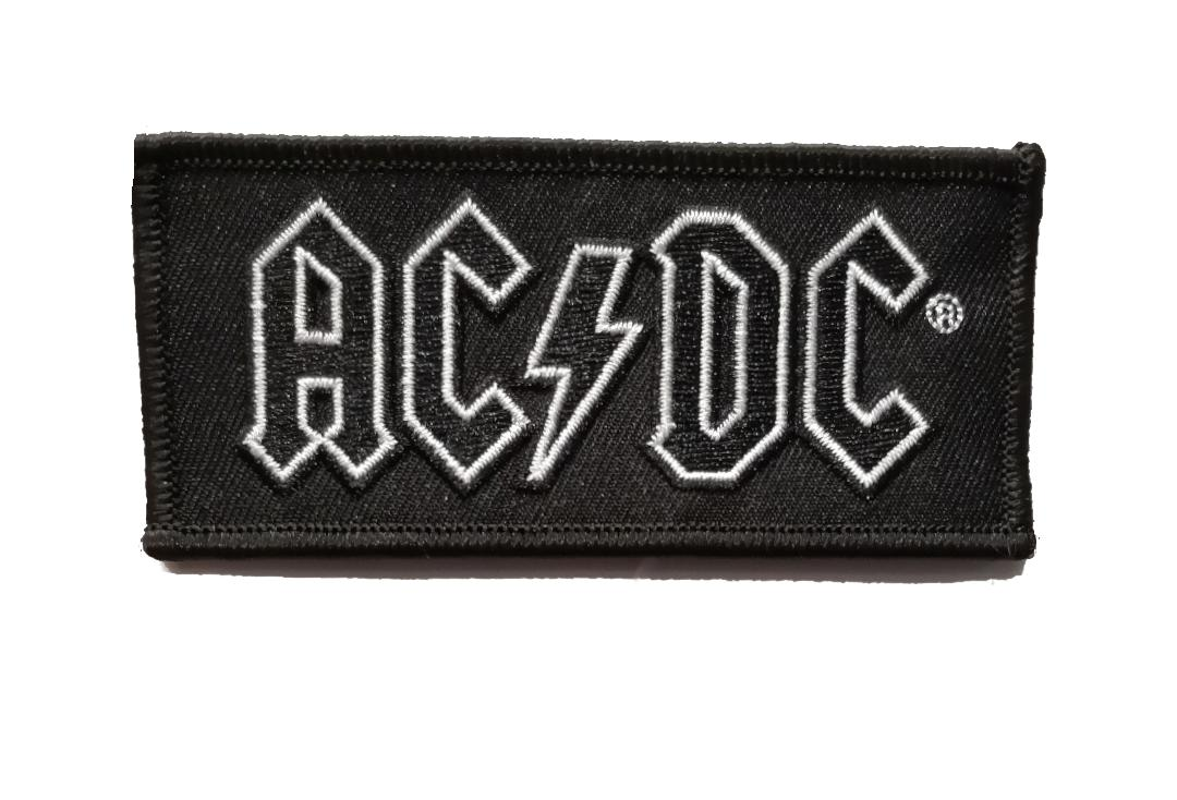 Official Band Merch | AC/DC - Black Logo Woven Patch