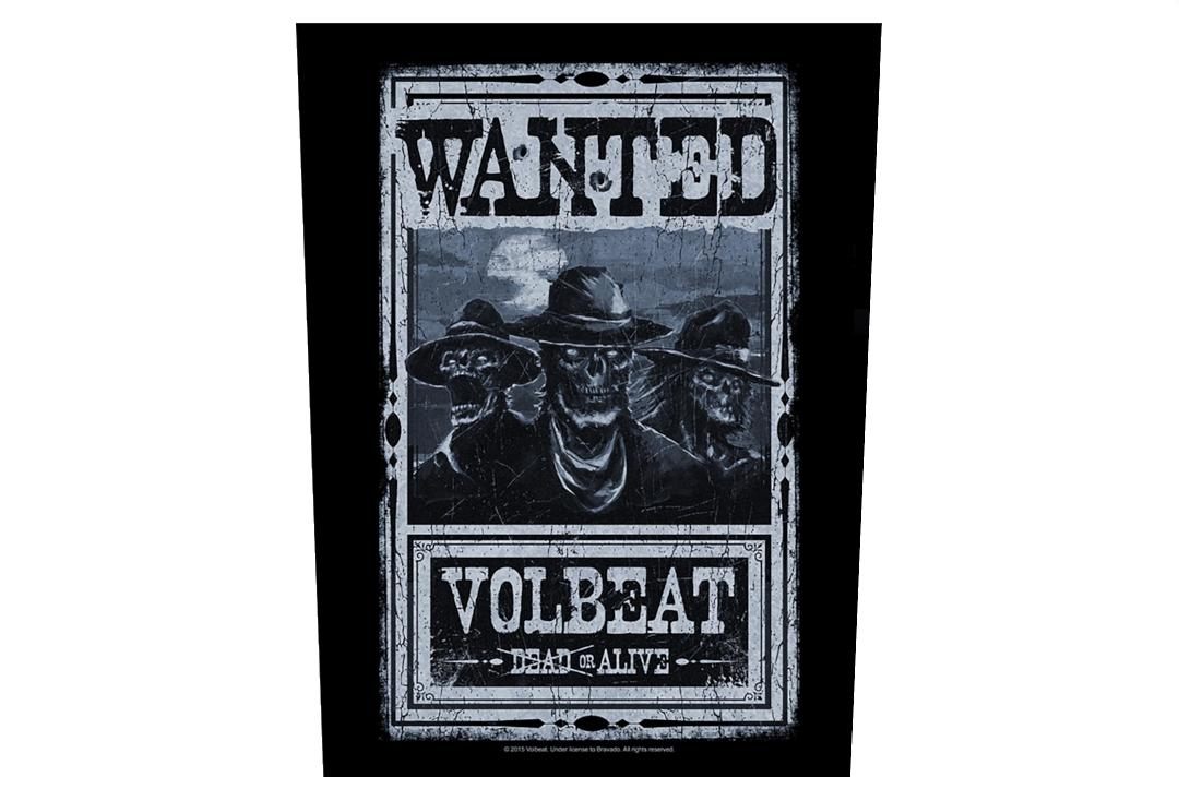 Official Band Merch | Volbeat - Wanted Printed Back Patch