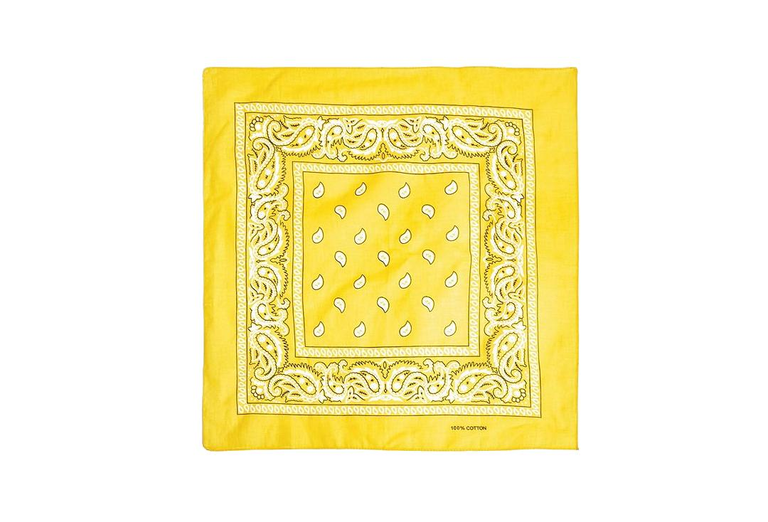 Void Clothing | Yellow Paisley Cotton Bandana