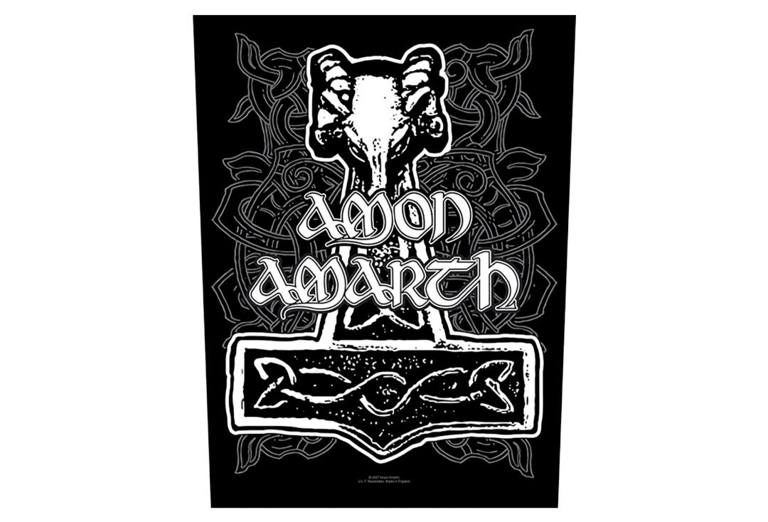 Official Band Merch | Amon Amarth - Hammer Printed Back Patch