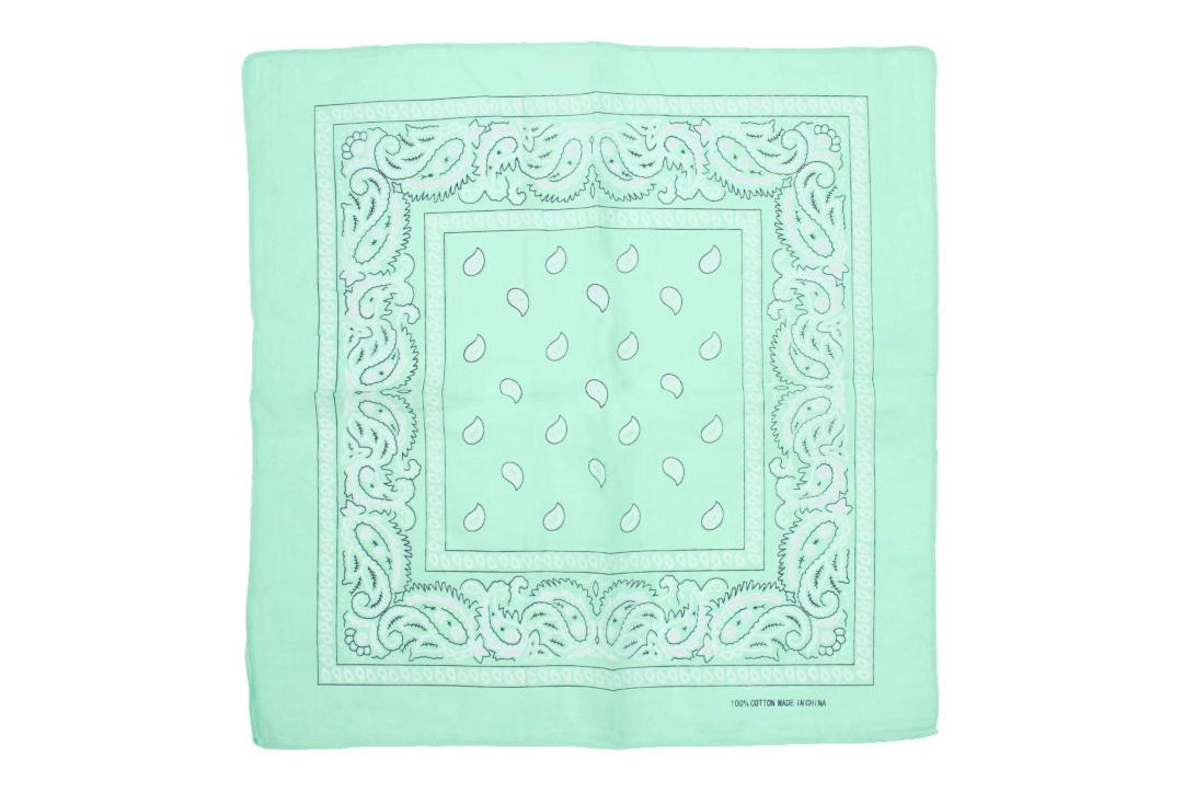 Void Clothing | Mint Green Paisley Cotton Bandana