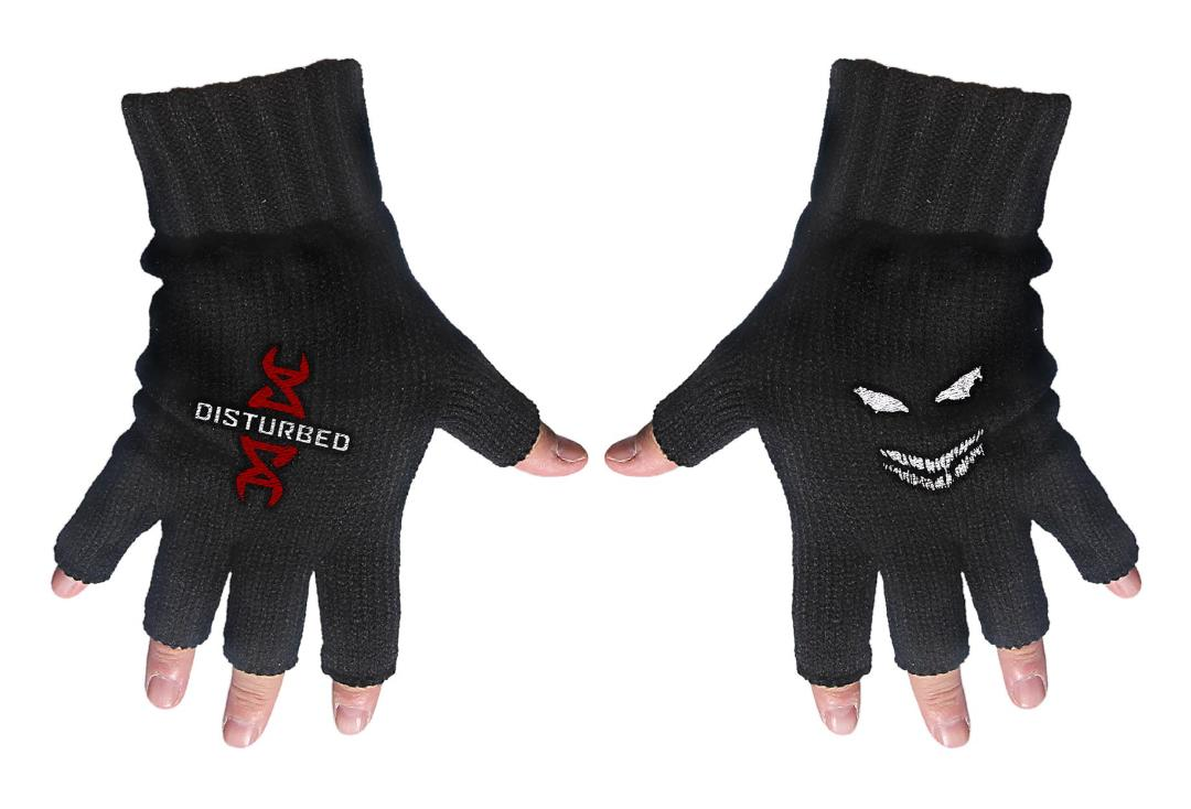 Official Band Merch | Disturbed - Red DNA Embroidered Knitted Finger-less Gloves
